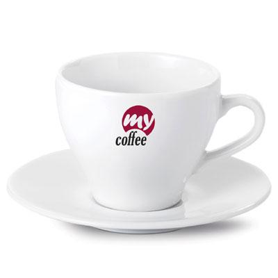tazzine caffè con logo in decalcomania