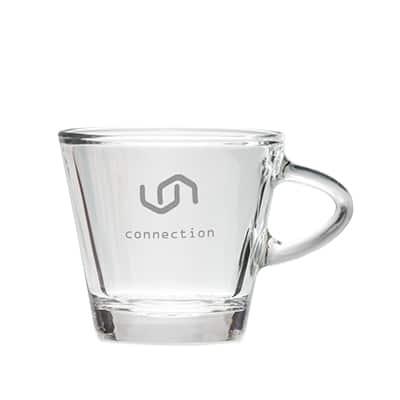 Mugs in Vetro Personalizzate con logo